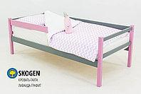 """Детская деревянная кровать-тахта Бельмарко""""Skogen лаванда-графит"""", фото 2"""