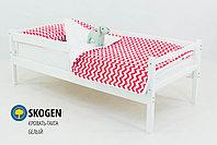 """Детская деревянная кровать-тахта Бельмарко""""Skogen белый"""", фото 2"""