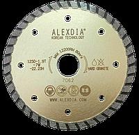 Алмазный диск с кромкой Turbo по граниту 125мм. ALEXDIA