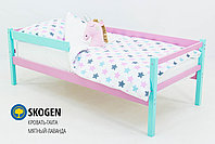 """Детская деревянная кровать-тахта Бельмарко""""Skogen мятный-лаванда"""", фото 2"""