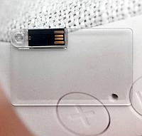 Флешка в виде кредитной карты, прозрачная, 8Г
