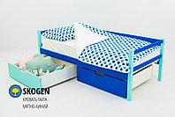 """Детская деревянная кровать-тахта Бельмарко""""Skogen мятно-синий"""", фото 2"""
