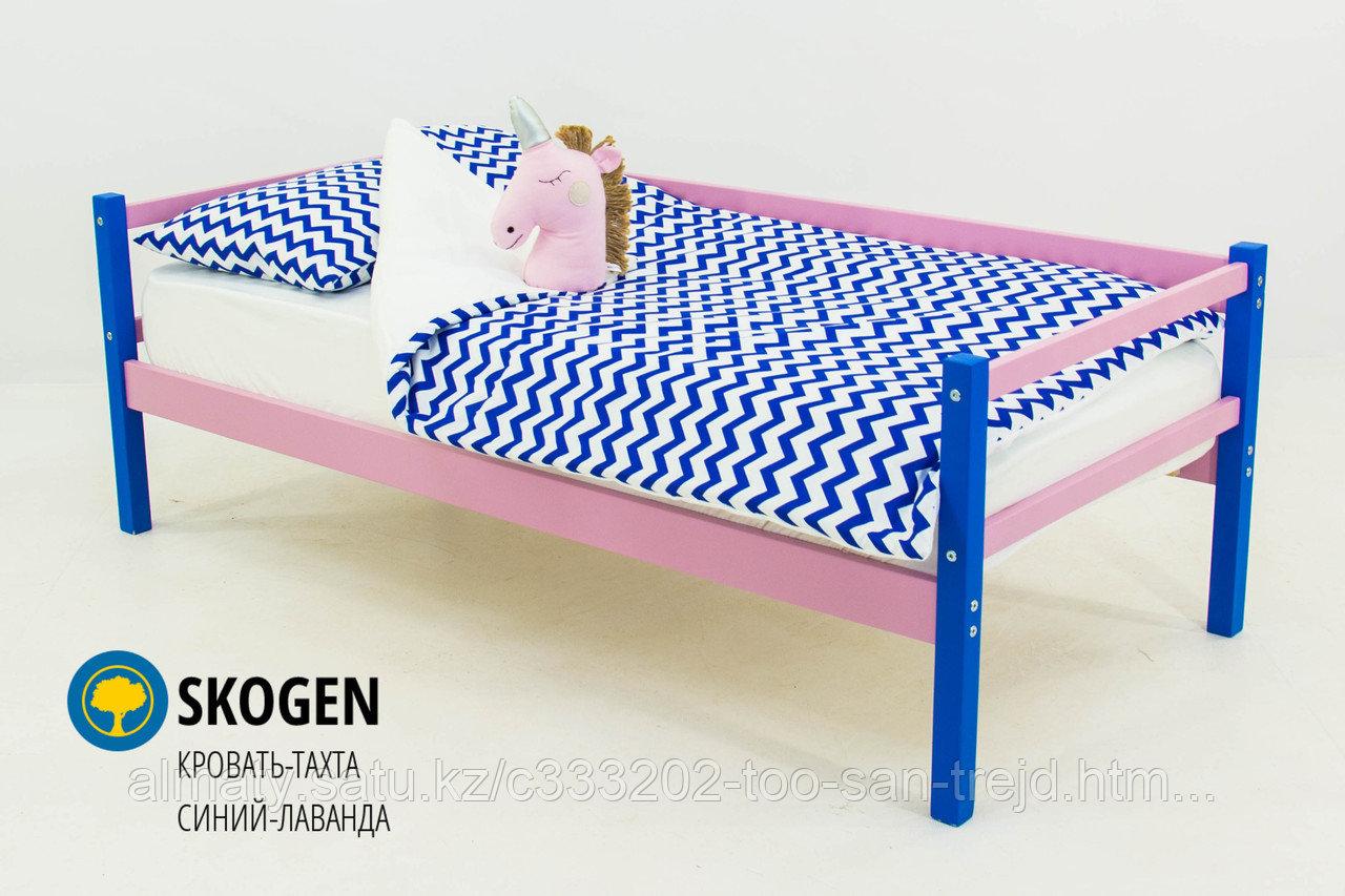 """Детская деревянная кровать-тахта Бельмарко""""Skogen синий-лаванда"""""""