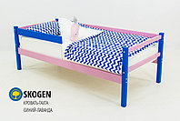 """Детская деревянная кровать-тахта Бельмарко""""Skogen синий-лаванда"""", фото 2"""