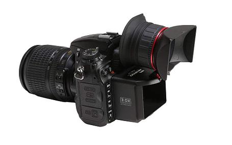 "Видео искатель Swivi S1 Viewfinder  3"" на Canon D2 6D 7D 760D и др. фотоаппараты, фото 2"