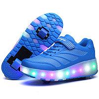 Роликовые кроссовки Aimoge LED Blue
