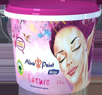 Декоративная краска Lazure  2.5 кг