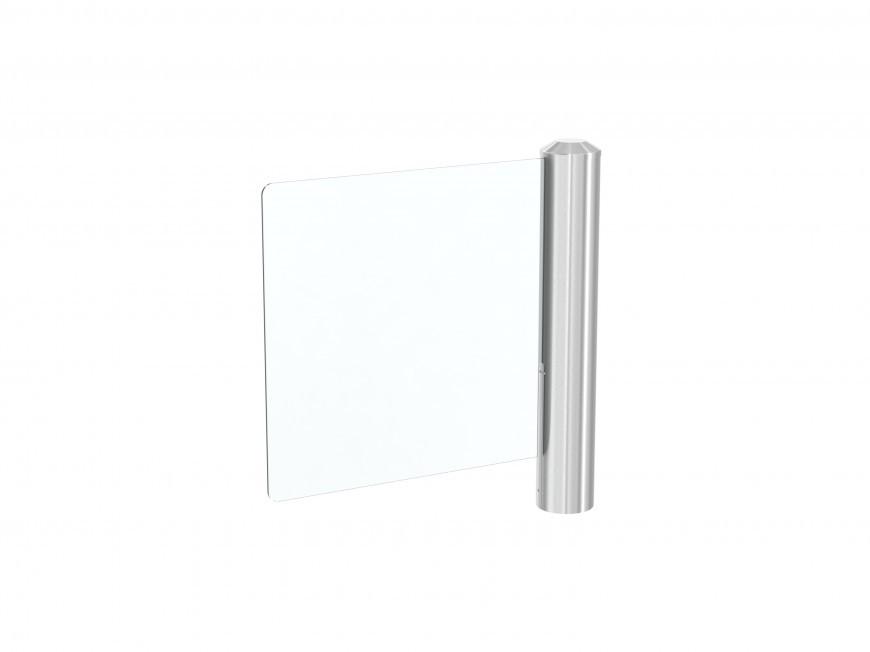 Распашная калитка с панелью из стекла и ограниченным углом открытия PEGAS GLE / GLE-M
