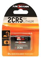 Батарейка литиевая 2CR5 6V, Ansmann (Premium) в блистере
