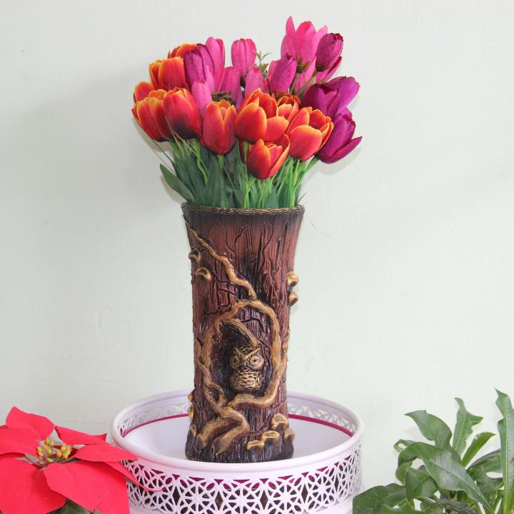 """Керамическая ваза для цветов """"Совушка"""".Высота 20-25"""