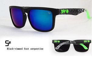 Солнцезащитные очки SPY+ Black-rimmed foot serpentine, фото 2