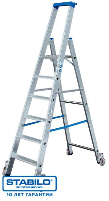 Передвижная лестница-стремянка 7 ступ. KRAUSE STABILO