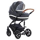 Детская коляска Tutis Mimi Style 2 в 1 Антрацит + кожа Белая, фото 2