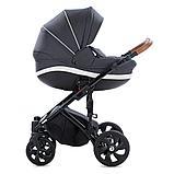 Детская коляска Tutis Mimi Style 2 в 1 Антрацит + кожа Белая, фото 3