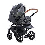 Детская коляска Tutis Mimi Style 2 в 1 Антрацит + кожа Белая, фото 4