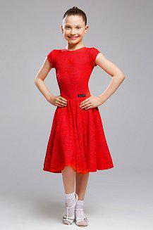 Платье красное для девочки 001