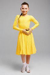 Желтое платье для танцев 003