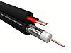 Кабель коаксиальный RG-59U, 75 Ом (CU, оплетка 32 нити CCA) + кабель питания 2x0.75мм2 (CCA, многожильный), аналог КВОС, внешний, черный