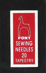 Игла гобеленовая Pony №20, 1 шт.