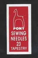 Игла гобеленовая Pony №23, 1 шт.
