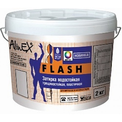 Затирка AlinEX FLASH, 2 кг белая