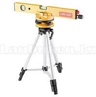 Уровень лазерный, 400 мм, 1050 мм штатив 3 глазка, набор (база, 2.линзы) в пласт. Боксе 35029 (002)
