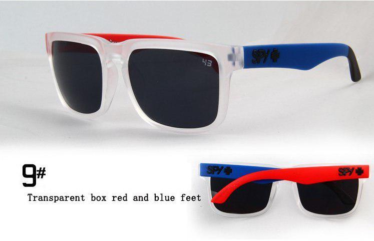 Солнцезащитные очки SPY+  прозрачные, синяя дужка слева