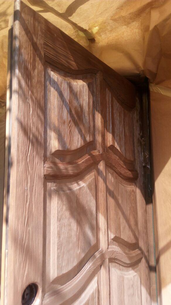 Реставрация старых дверей из дерева