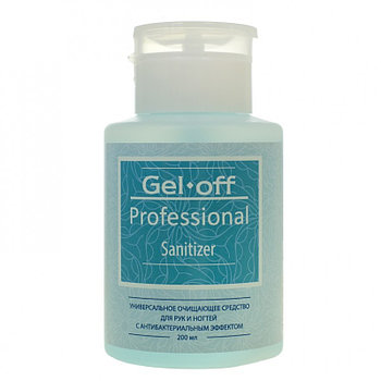 GEL-OFF Средство универсальное очищающее для рук и ногтей с антибактериальным эффектом, с помпой / Gel Off Pro