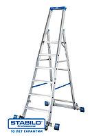 Передвижная лестница-стремянка, оснащенная траверсой 8 cтуп. KRAUSE STABILO