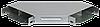 Поворот на 90 гр. вертикальный внешний 100х500