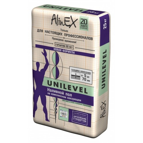 Наливной пол AlinEX UNILEVEL, 25 кг купить в Казахстане