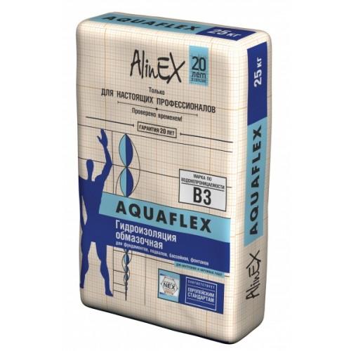 Смесь гидроизоляция обмазочная AlinEX AQUAFLEX, 25кг купить в Павлодаре