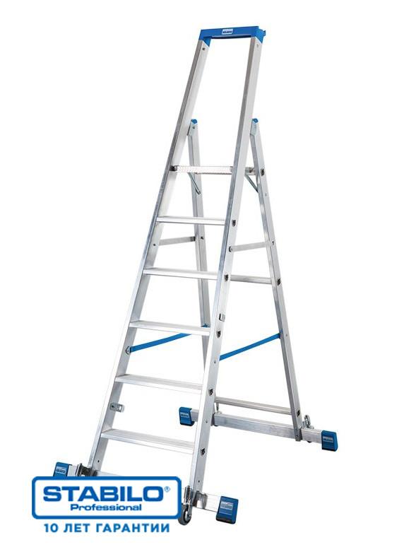 Передвижная лестница-стремянка, оснащенная траверсой 10 ступ. KRAUSE STABILO