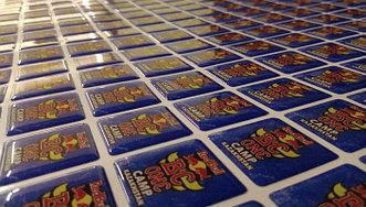 Изготовление объемных наклеек тираж 50 шт.