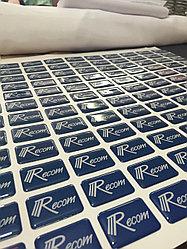 Изготовление объемных наклеек от 200 шт до 500 шт.