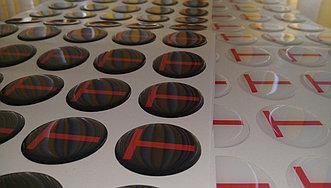 Изготовление объемных наклеек 5,5 т при тираж 1000 шт
