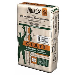 Шпатлевка гипсовая AlinEX GLATT, 25кг купить в Казахстане