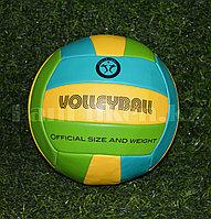 Волейбольный мяч зеленый окружность 65 см