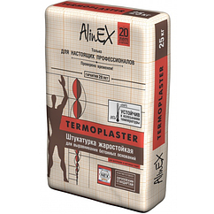 Штукатурка жаростойкая  AlinEX TERMOPLASTER, 25кг купить в Павлодаре
