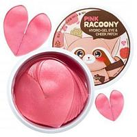 Гидрогелевые патчи Secret Key Pink Racoony Hydro-Gel Eye & Cheek Patch