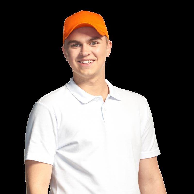 Практичная и долговечная бейсболка, StanLine, 09U, Оранжевый (28), 56-58