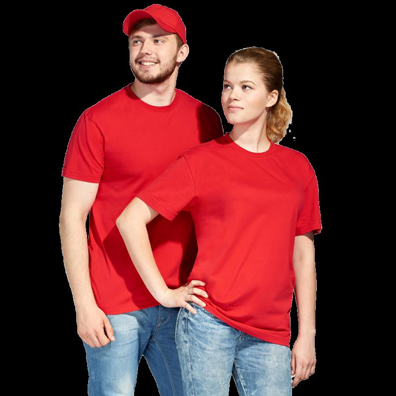 Промо футболка унисекс, StanAction, 51, Красный (14), XL/52