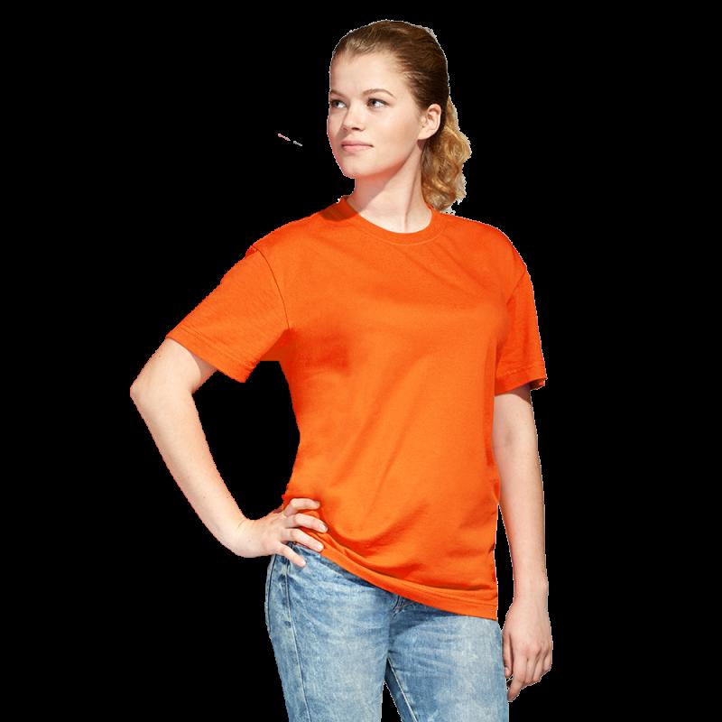 Промо футболка унисекс, StanAction, 51, Оранжевый (28), L/50
