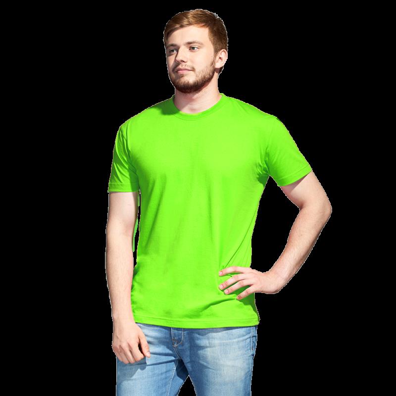 Промо футболка унисекс, StanAction, 51, Ярко-зелёный (26), XL/52