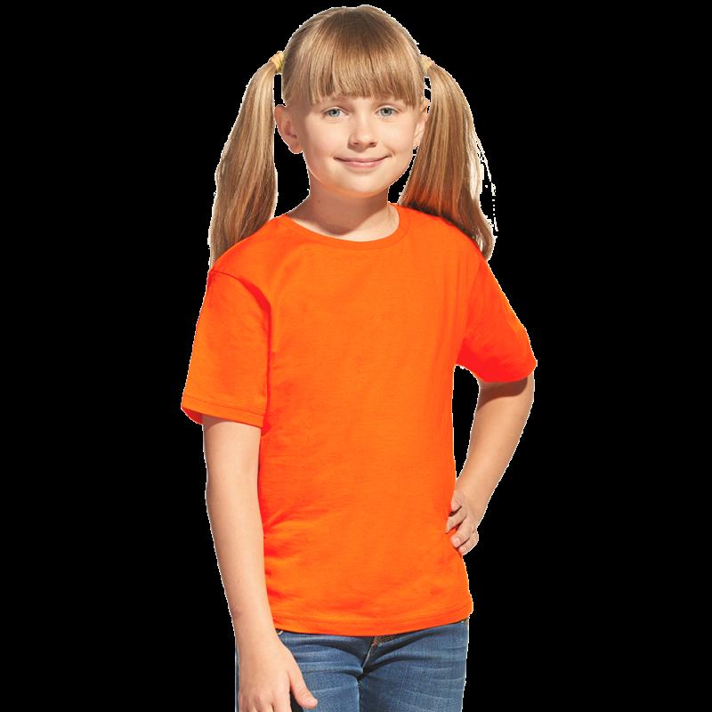 Облегченная детская футболка, StanClass, 06U, Оранжевый (28), 10 лет