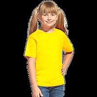 Облегченная детская футболка, StanClass, 06U, Жёлтый (12), 12 лет