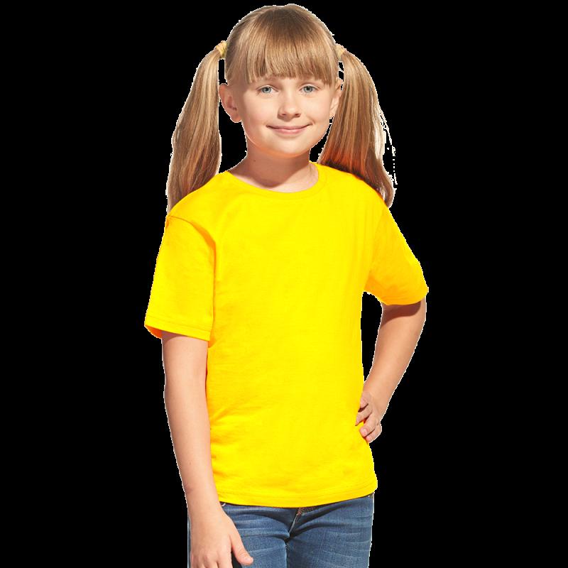 Облегченная детская футболка, StanClass, 06U, Жёлтый (12), 14 лет
