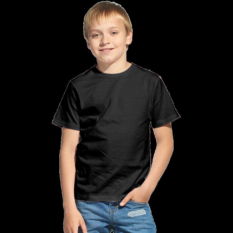 Облегченная детская футболка, StanClass, 06U, Чёрный (20), 10 лет