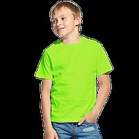 Облегченная детская футболка, StanClass, 06U, Ярко-зелёный (26), 10 лет